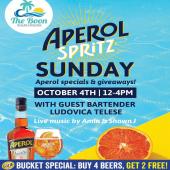 Ocean Views and Aperol Spritz! =  Best of both worlds this Sunday October 4th 📍@theboonbeachbar.  #ReadyToGoSpritz  Aperol Spritz Specials, Giveaways, Live Music by @amin_sxm & @shawnjmuzik & your favorite Guest Bartender: @bullovica 🍹  **Carib Beer Bucket Special Available**  Drink Responsibly. 18 + - - - #AperolSpritz #StMaarten #SXM #StMartin #Aperol #Aperitivo #AperitivoTime #Aperitif #TeamAperol #MarysBoonSXM #SXM #OceanViews #BeachVibes #LiveMusic #IslandLife #CaribBeer #BucketSpecials #Wholesaler #ILTTSXM #InternationalLiquorsSXM #Tropical #Giveaways #Specials #Prosecco #Orange #Bartending