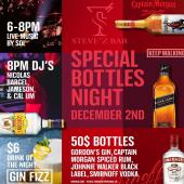 This Wednesday at @stevezbar, premium liquor bottle specials!  DrinkiQ.com - Please Drink Responsibly. 18+ - - - #SmirnoffVodka #CaptainMorganRum #RumLover #JohnnieWalker #JohnnieWalkerBlackLabel #Whisky #BlendedScotchWhisky #KeepWalking #FeelLikeACaptain #GordonsGin #PremiumLiquor #OfficialWholesaler #ILTTSXM #InternationalLiquorsSXM #Caribbean #StMaarten #SXMEvents #SXM #ThingsToDoInStMaarten #December #DecemberToRemember #GinFizz #GinCocktails #GinOclock #WhiskyTime #ILoveStMaarten #IslandLife