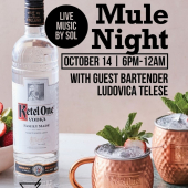 Time for a Ketel One Moscow Mule At 📍@stevezbar this Wednesday with guest bartender @bullovica ! Live Music + Drink Specials!  DrinkiQ.com - Please Drink Responsibly 18+ - - - #MoscowMule #StMaarten #SXM #HappyHour #KetelOneMoscowMule #DrinkResponsibly #LiveMusic #Vodka #KetelOneVodka #KetelOne #DrinkMarvelously #Caribbean #SXMStrong #Bar #Wholesaler #Distributor