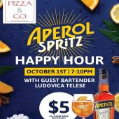Aperol Spritz Happy Hour! 🍊#ReadyToGoSpritz  2 Dates, 2 Locations, $5 Aperol Spritz!  ‣October 1st: →@pizzaandcosxm in Simpsonbay 7 PM - 10 PM ‣October 2nd: →@pizzagourmetsxm on Front Street 12 PM - 3 PM   Both dates with guest bartender @bullovica  Drink Responsibly. 18 + - - - #StMaarten #AperolSpritz #Aperol #Aperitivo #Aperitif #AperitivoTime #Pizza #PizzaLovers #PizzaTime #HappyHour #Specials #SXM #StMartin #AperolSquad #Wholesaler #ILTTSXM #InternationalLiquorsSXM #GoodVibesOnly #IslandLife #IslandVibe #Tropical #October #PizzandCo #ItalianPizza #ItalianDrinks #HappyHourTime